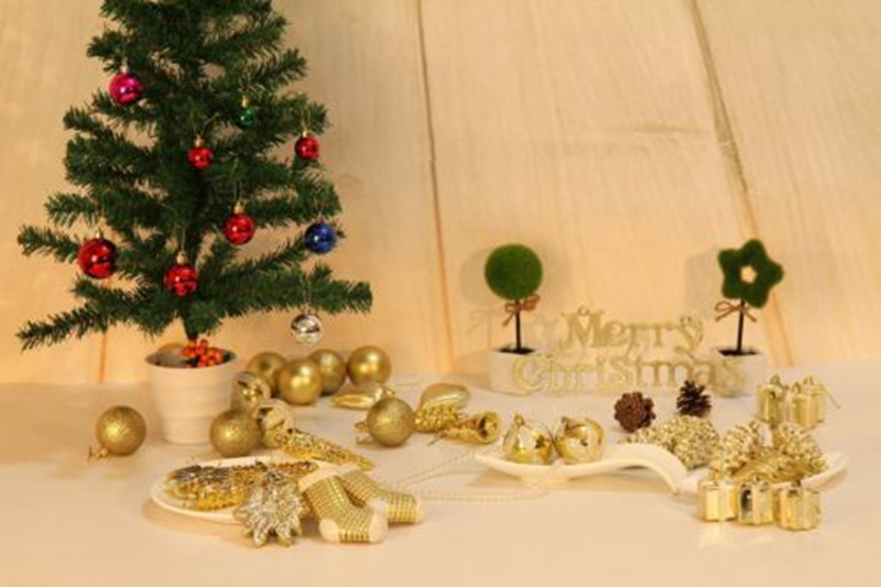 50PCS Christmas Decorations Baubles Tree Xmas Balls Party Wedding Ornament AU