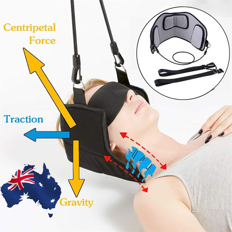 Back Stretcher Neck Massage Cervical Traction Pain Relief Fitness Equipment