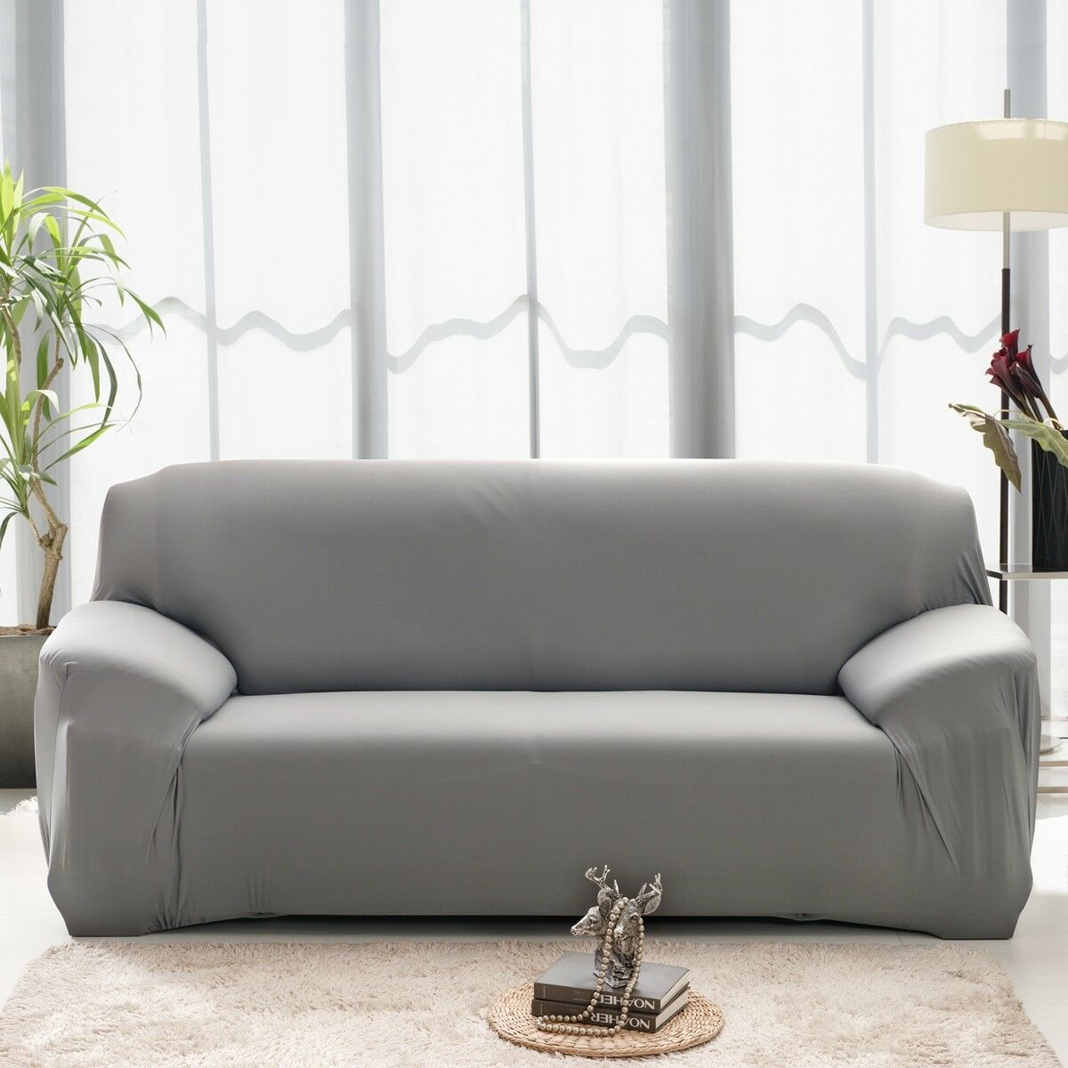 EASY-Stretch-Couch-Sofa-Lounge-Covers-Recliner-1-2-3-Seater-Dining-Chair-Cover thumbnail 74