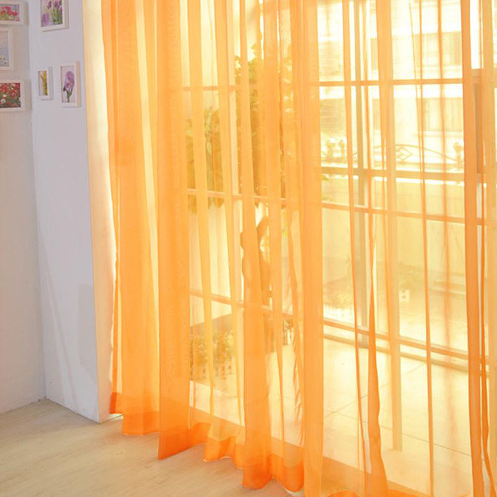 Voile-Curtains-Pair-2-Panels-Valances-Tulle-Window-Door-Sheer-Scarf-Divider thumbnail 6