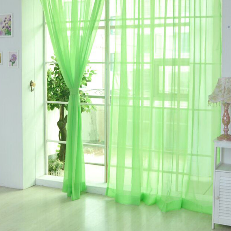 Voile-Curtains-Pair-2-Panels-Valances-Tulle-Window-Door-Sheer-Scarf-Divider thumbnail 9