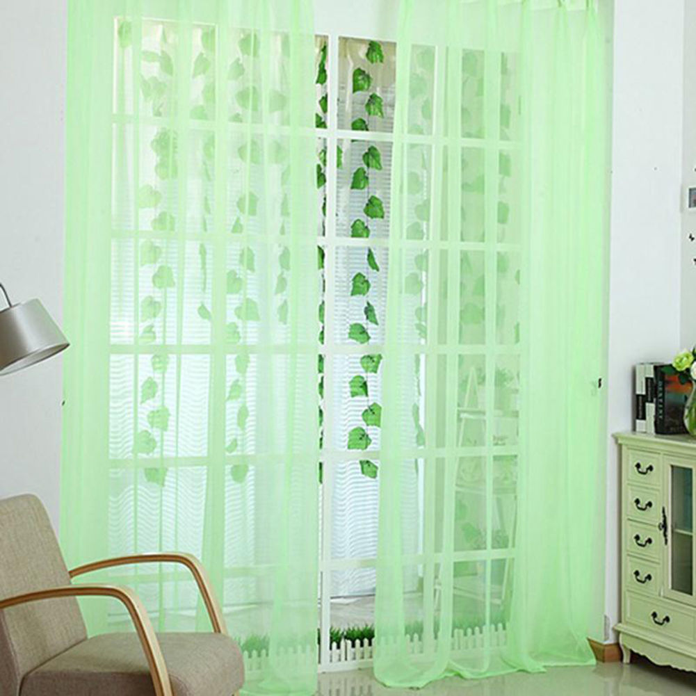 Voile-Curtains-Pair-2-Panels-Valances-Tulle-Window-Door-Sheer-Scarf-Divider thumbnail 10