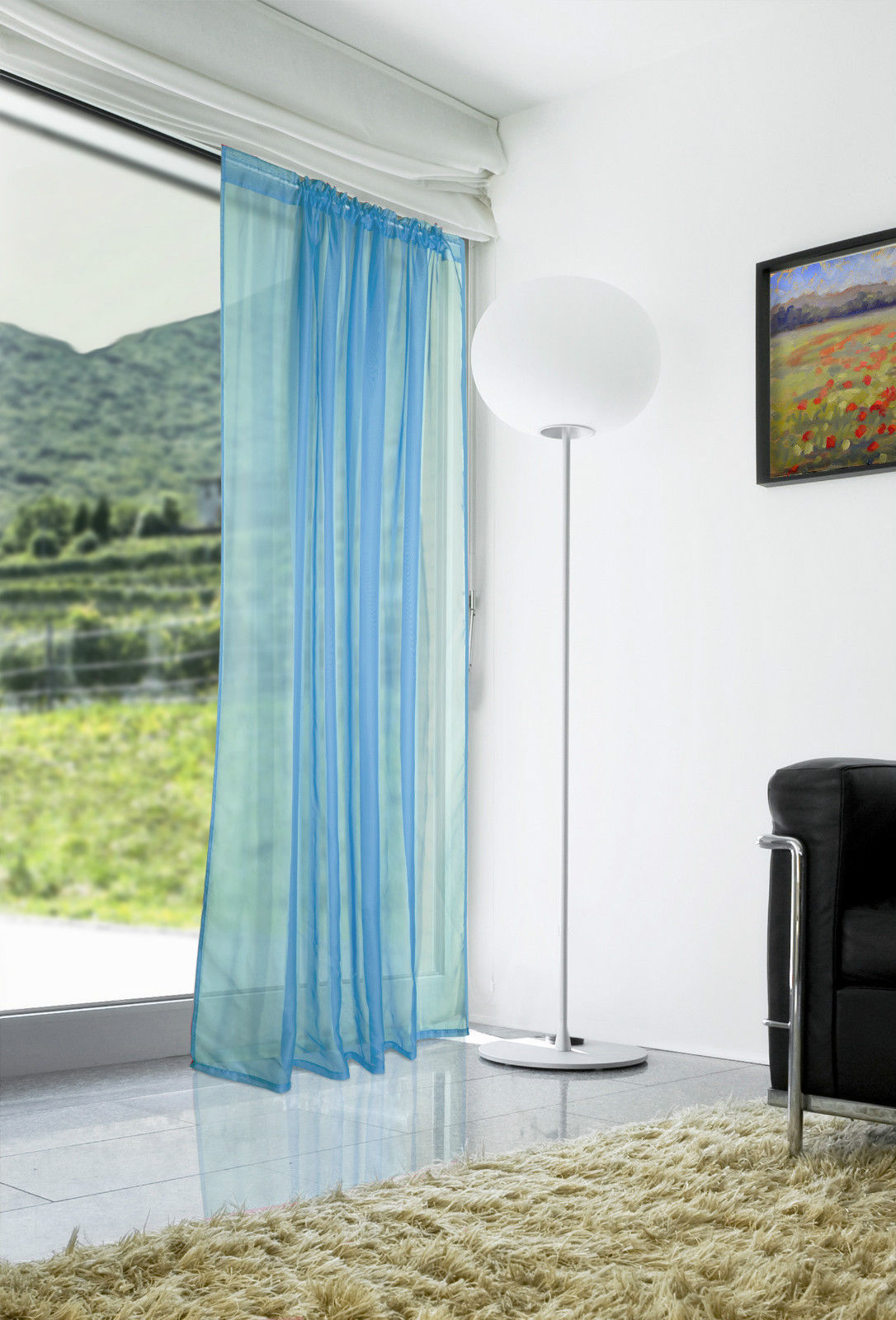 Voile-Curtains-Pair-2-Panels-Valances-Tulle-Window-Door-Sheer-Scarf-Divider thumbnail 19
