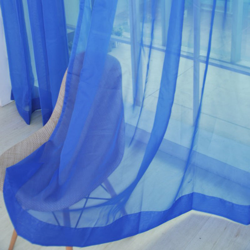 Voile-Curtains-Pair-2-Panels-Valances-Tulle-Window-Door-Sheer-Scarf-Divider thumbnail 21