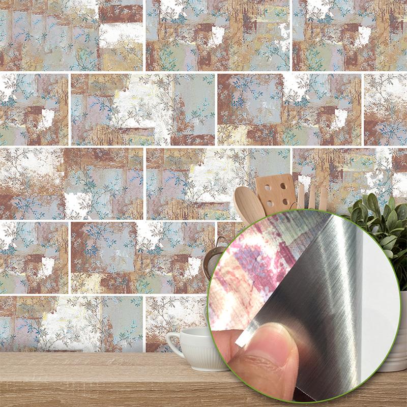 self adhesive mosaic tile sticker kitchen bathroom wall
