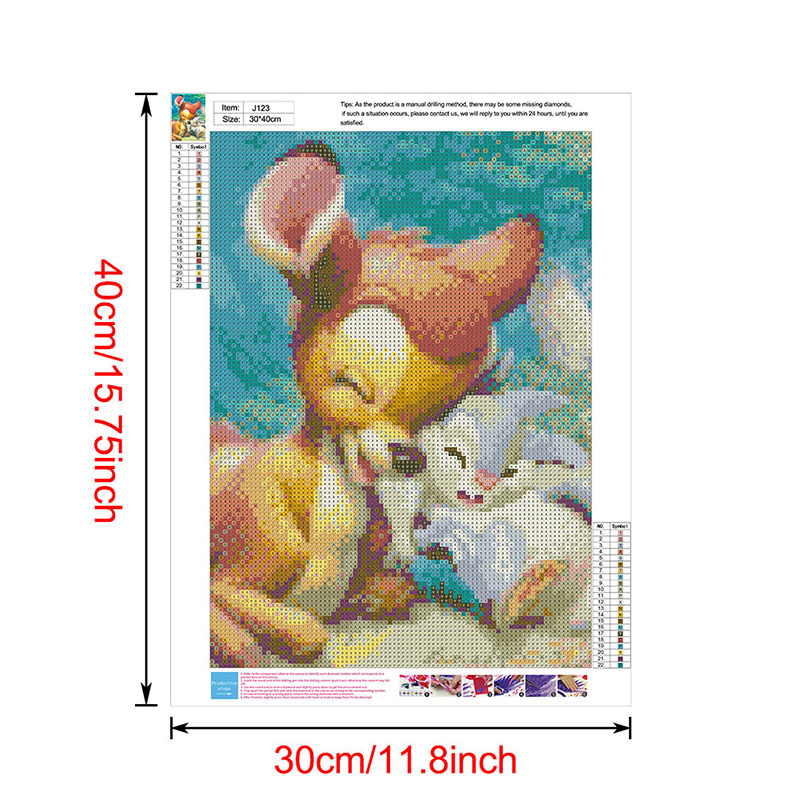 thumbnail 156 - 5D-Diamond-Painting-Embroidery-Cartoon-Cross-Stitch-Arts-Craft-Kit-Mural-Decor
