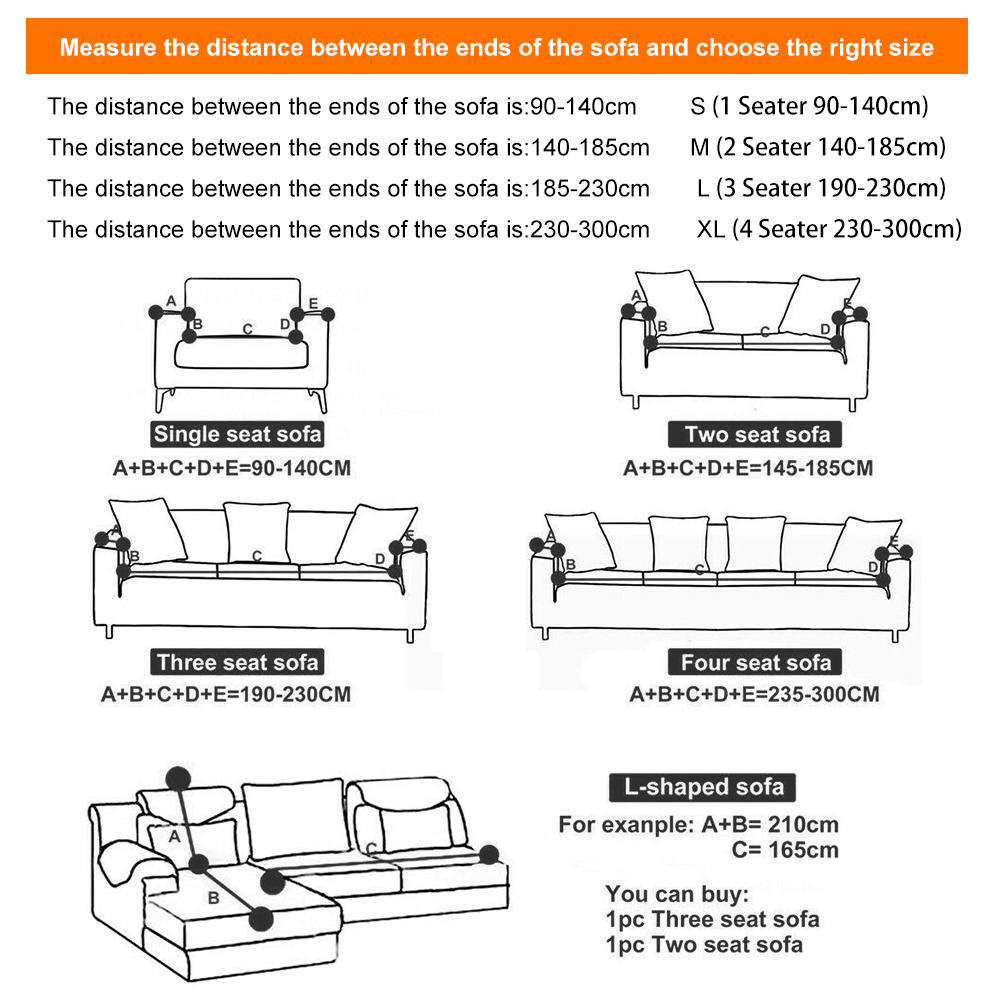 1-2-3-4-Seater-Elastic-Sofa-Covers-Slipcover-Stretch-Couch-Protector-Sofa-Decor thumbnail 145