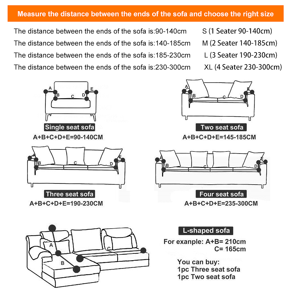 1-2-3-4-Seater-Elastic-Sofa-Covers-Slipcover-Stretch-Couch-Protector-Sofa-Decor thumbnail 189