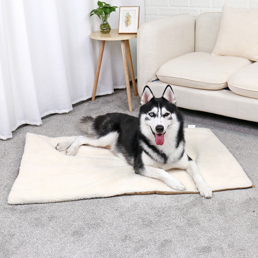 Dog Pet Mat Bed Pad Self Heating Soft Warm Cat Rug Sung Thermal Washable Pillow