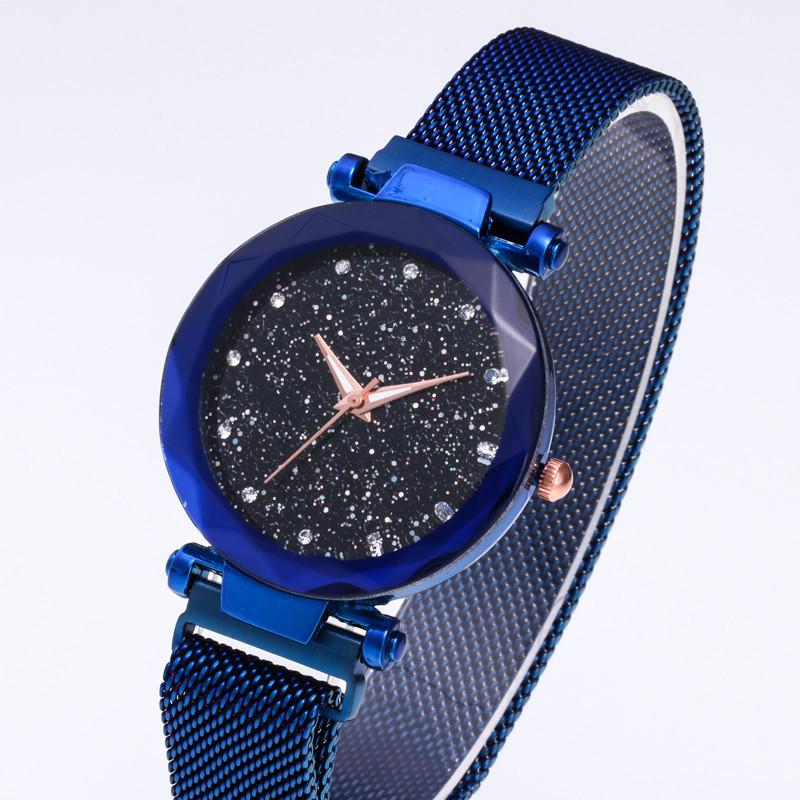 AU-Starry-Sky-Watch-Waterproof-Magnet-Stainless-Steel-Strap-Buckle-Women-Gift