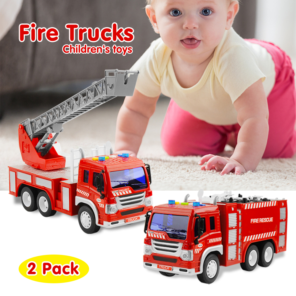 Large Fire Engine 1:16 Extending Ladder Vehicle Truck Realistic Sounds Kids Toy