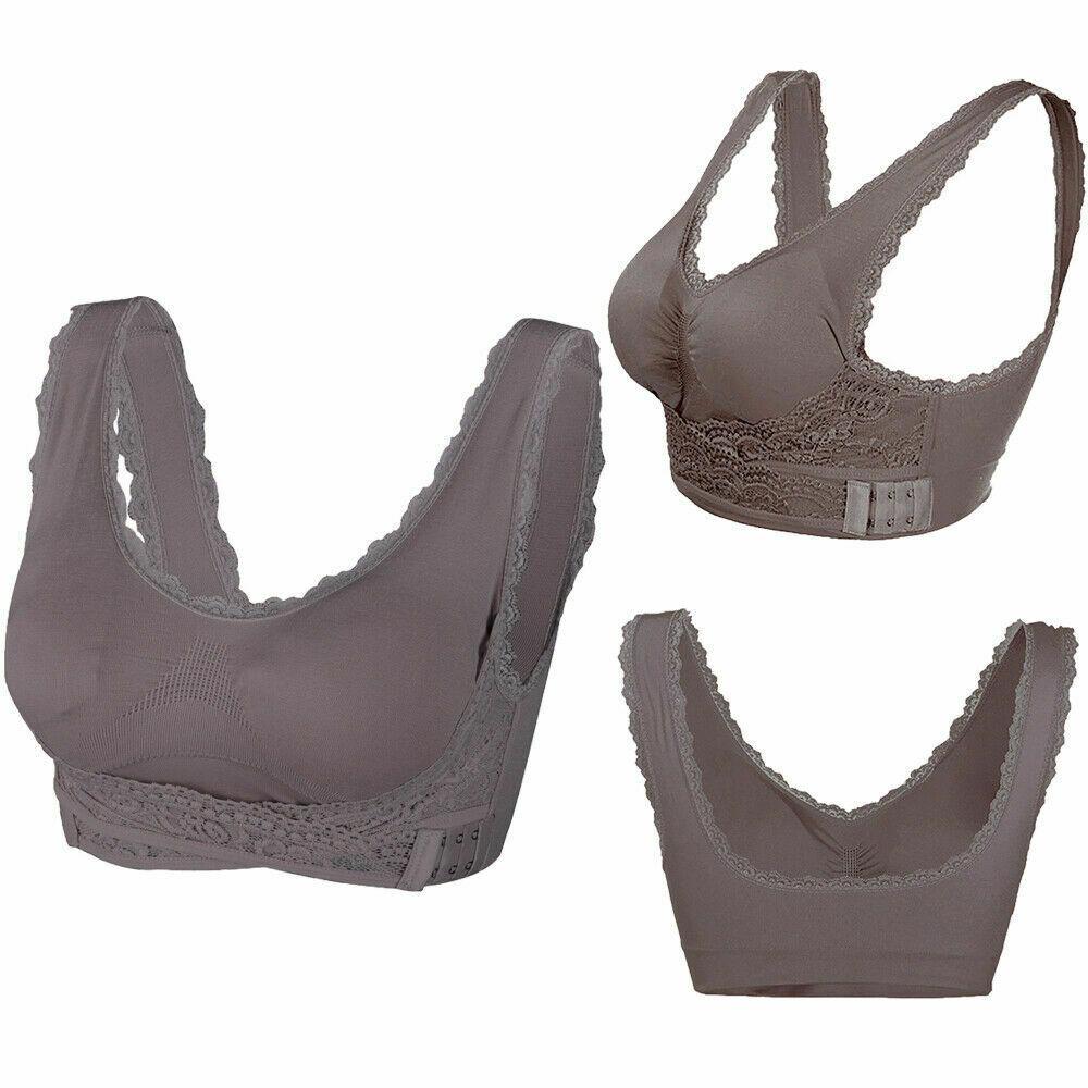 AU-Womens-Adjustable-Front-Cross-Lace-Yoga-Bra-Buckle-Side-Wireless-Crop-Top-Bra thumbnail 23