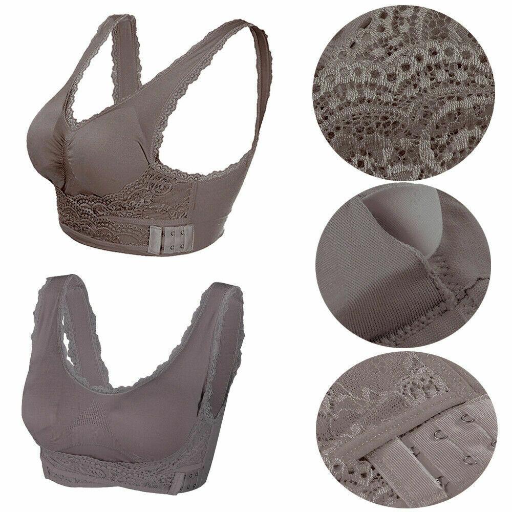 AU-Womens-Adjustable-Front-Cross-Lace-Yoga-Bra-Buckle-Side-Wireless-Crop-Top-Bra thumbnail 24