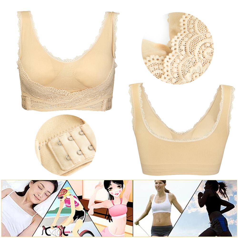 AU-Womens-Adjustable-Front-Cross-Lace-Yoga-Bra-Buckle-Side-Wireless-Crop-Top-Bra thumbnail 21