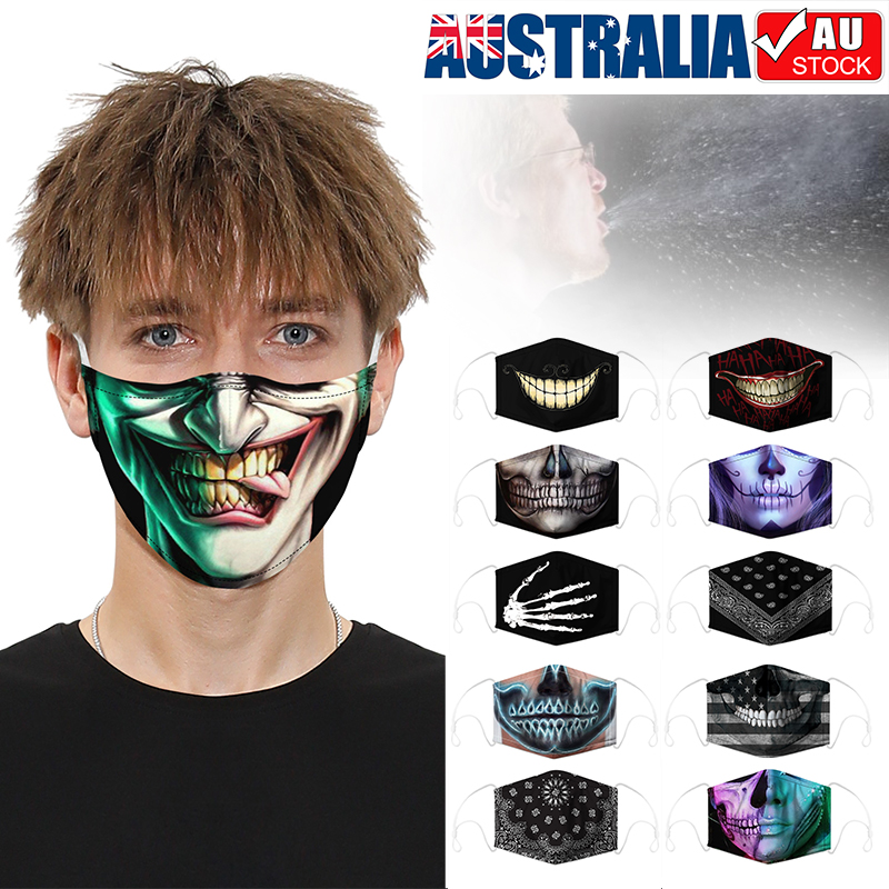 Funny Washable Face Masks Half Face Mouth Mark Hiphop Cospaly Party 3d Masks Ebay