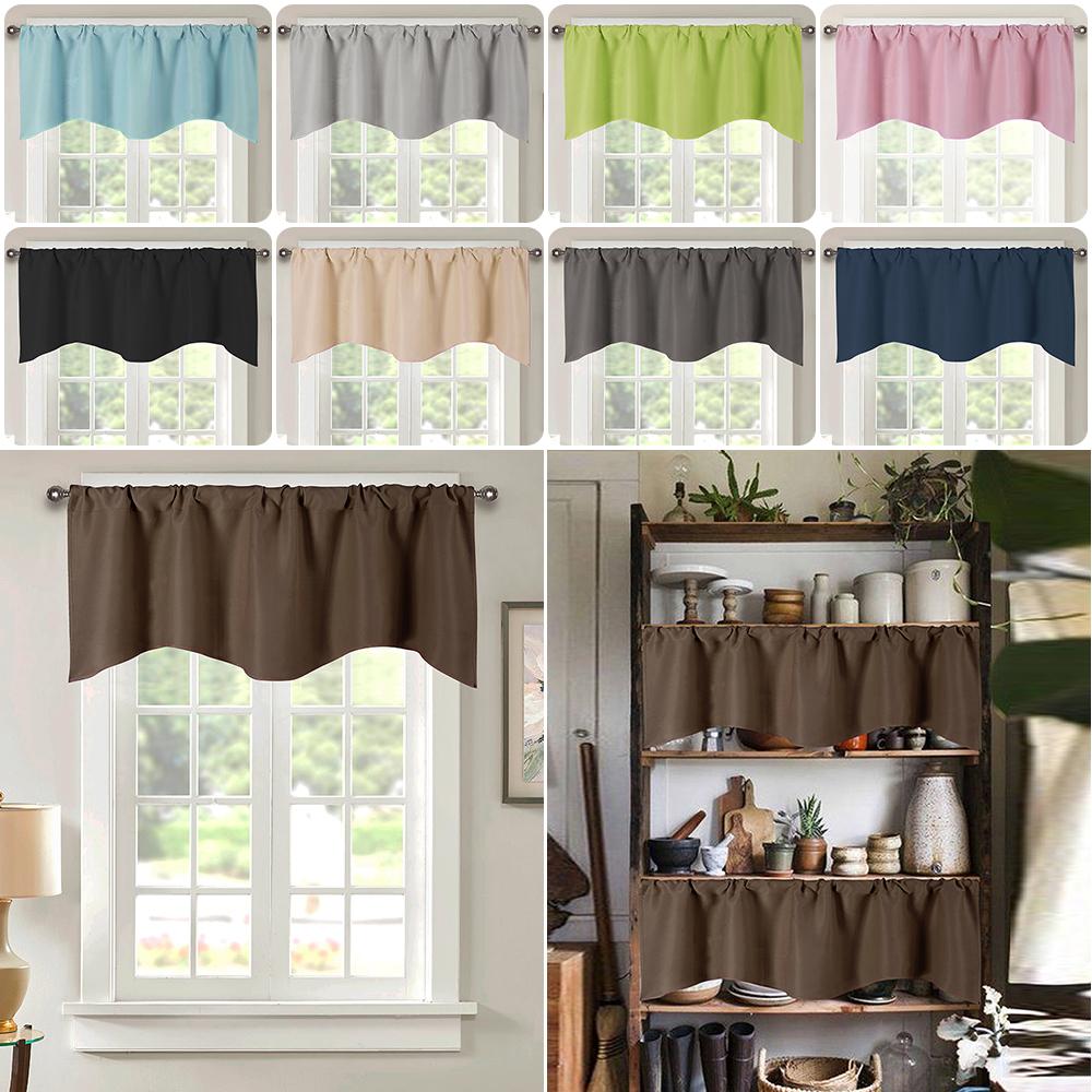 Cafe Kitchen Bathroom Short Blackout Curtain Panel Valance Drape Rod Pocket Deco Ebay