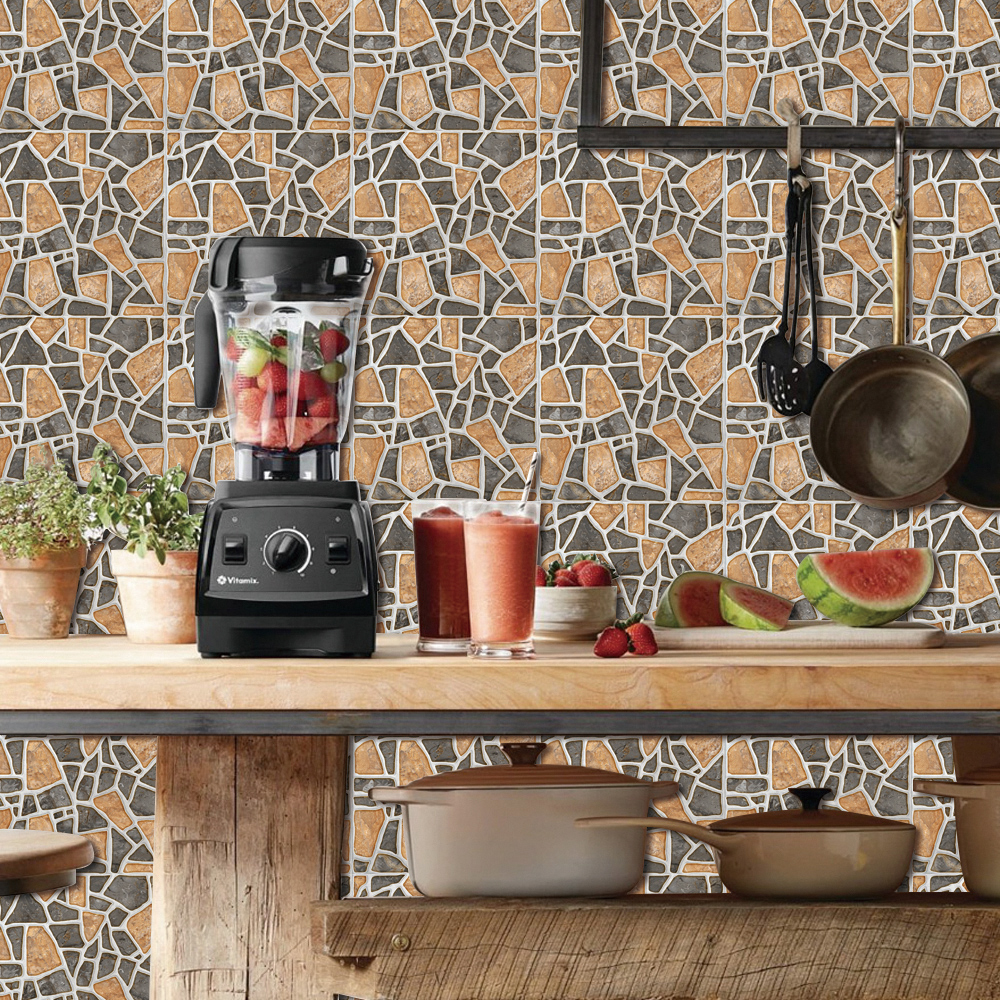 20x mosaic wood grain tile floor wall stickers diy self