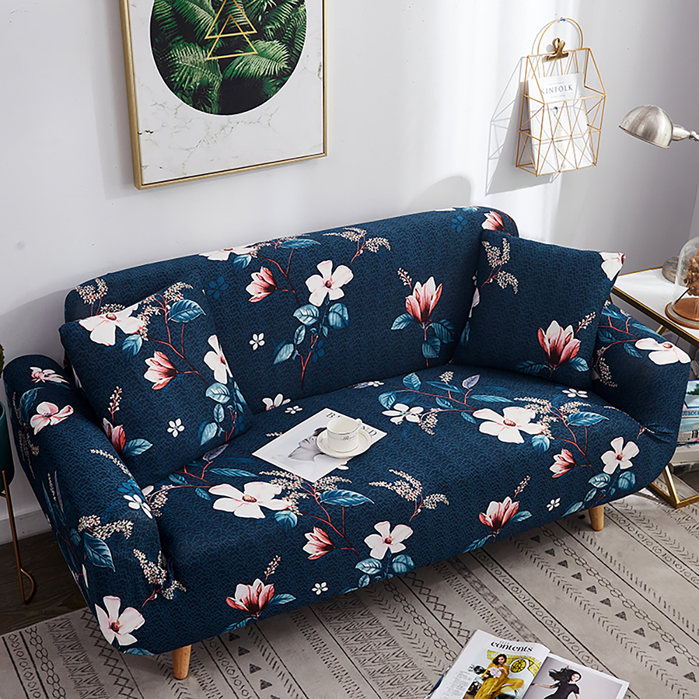 1-2-3-4-Floral-Elastic-Sofa-Cover-Slipcover-Stretch-Couch-Furniture-Protector thumbnail 86