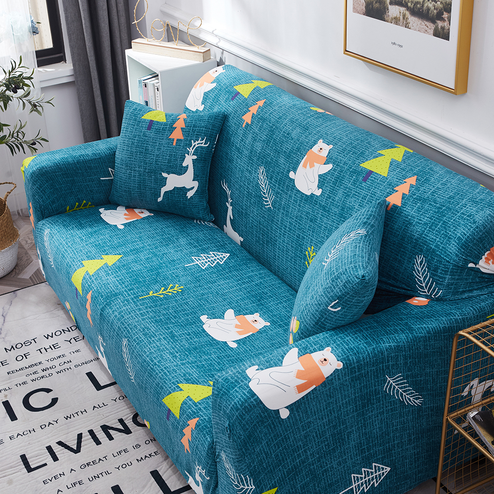 1-2-3-4-Floral-Elastic-Sofa-Cover-Slipcover-Stretch-Couch-Furniture-Protector thumbnail 118