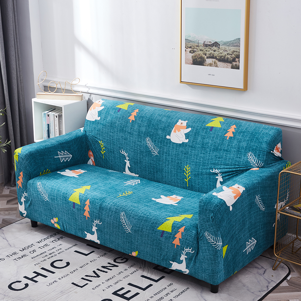 1-2-3-4-Floral-Elastic-Sofa-Cover-Slipcover-Stretch-Couch-Furniture-Protector thumbnail 119