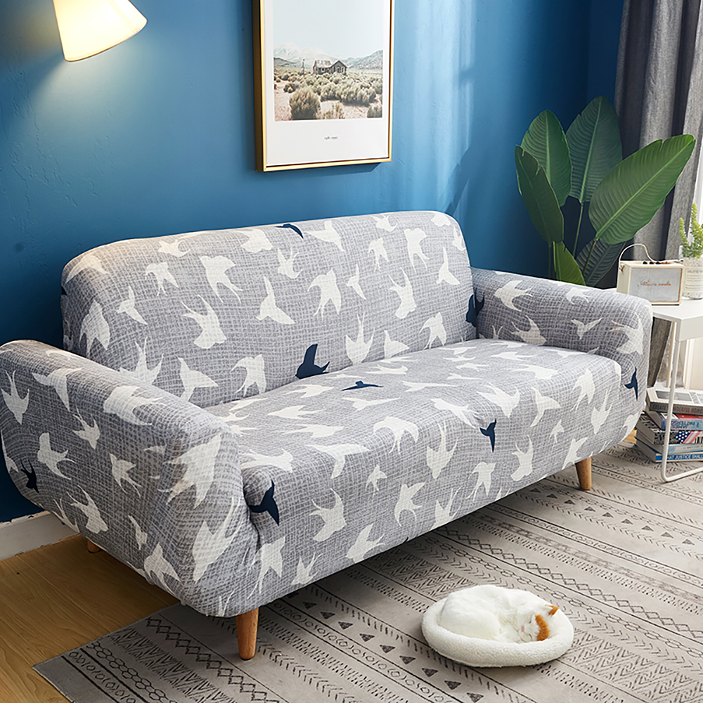 1-2-3-4-Floral-Elastic-Sofa-Cover-Slipcover-Stretch-Couch-Furniture-Protector thumbnail 139
