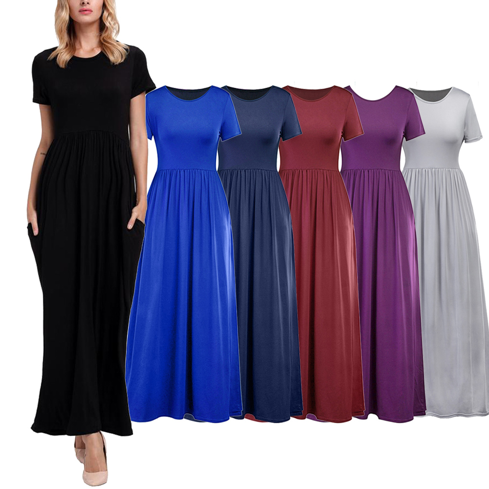 Plus Size Maxi Dress Lace Sleeves Wine Red