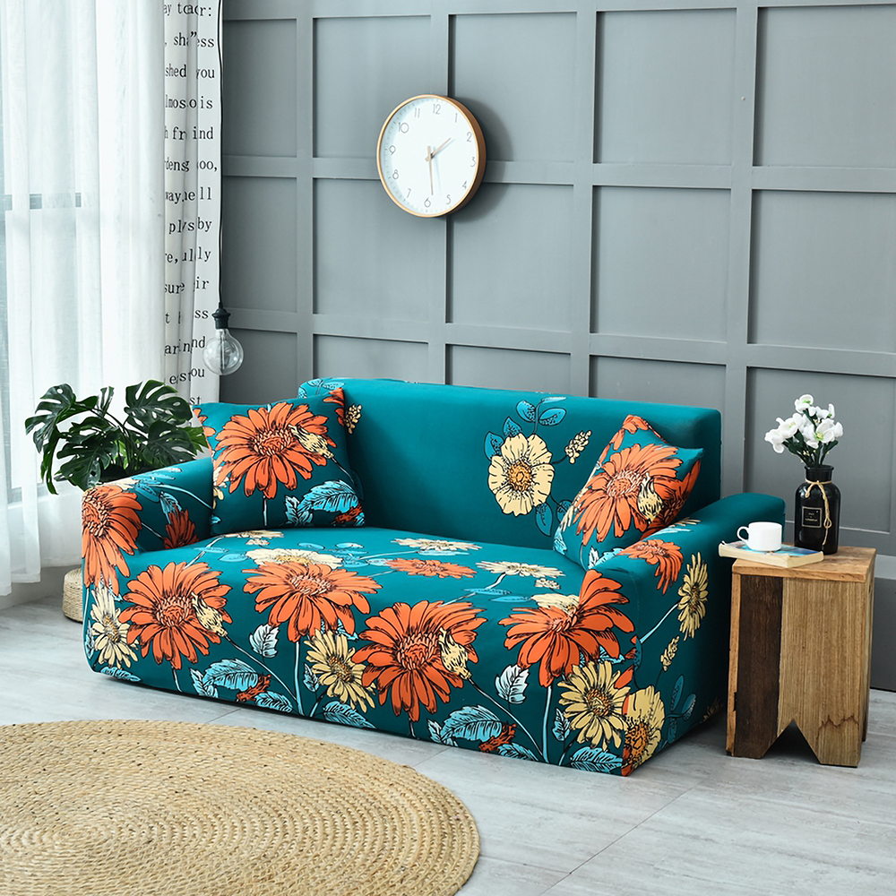 1-2-3-4-Floral-Elastic-Sofa-Cover-Slipcover-Stretch-Couch-Furniture-Protector thumbnail 33