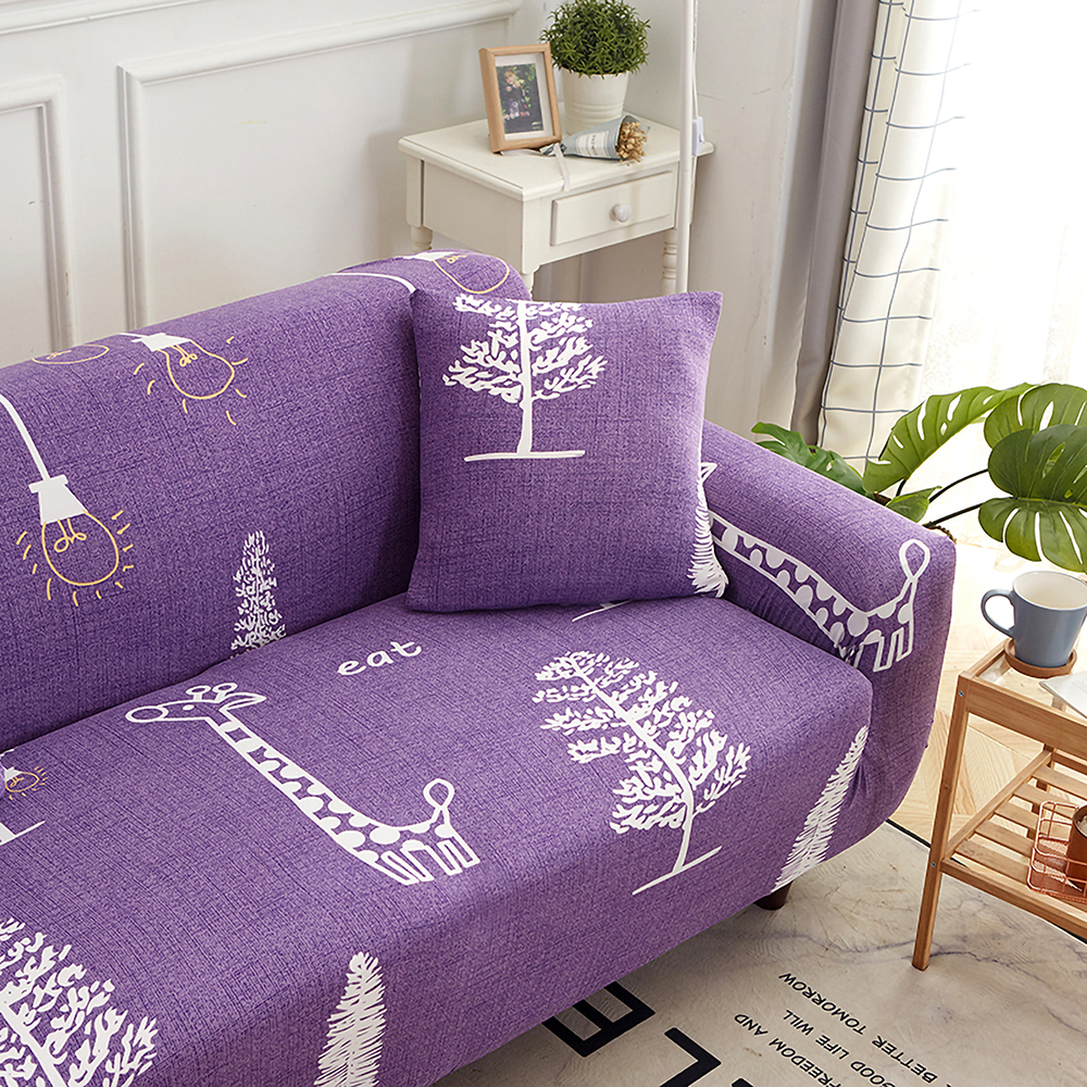1-2-3-4-Floral-Elastic-Sofa-Cover-Slipcover-Stretch-Couch-Furniture-Protector thumbnail 60