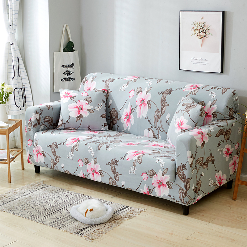 1-2-3-4-Floral-Elastic-Sofa-Cover-Slipcover-Stretch-Couch-Furniture-Protector thumbnail 64
