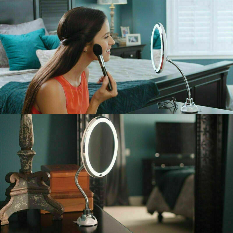 10x Mag Flexi Flexible Illuminated Mirror With Bendable