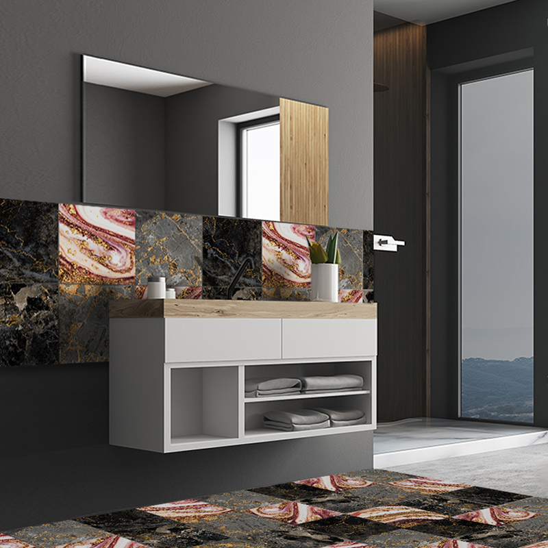 10-90PCS Mosaic Tile Wall Sticker DIY Waterproof Bathroom ...