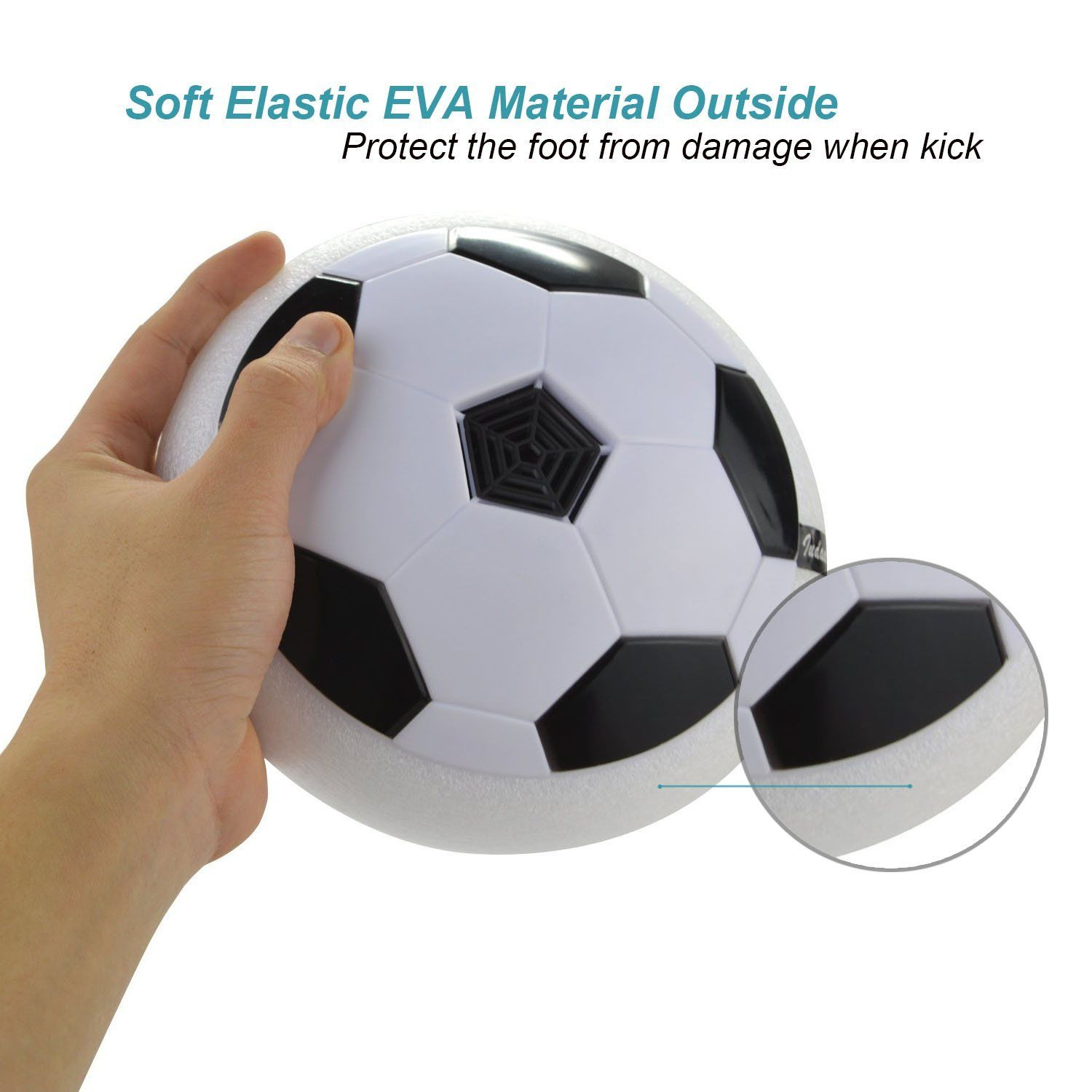 Led Air Power Soccer Hover Disk Gliding Ball Kids Outdoor