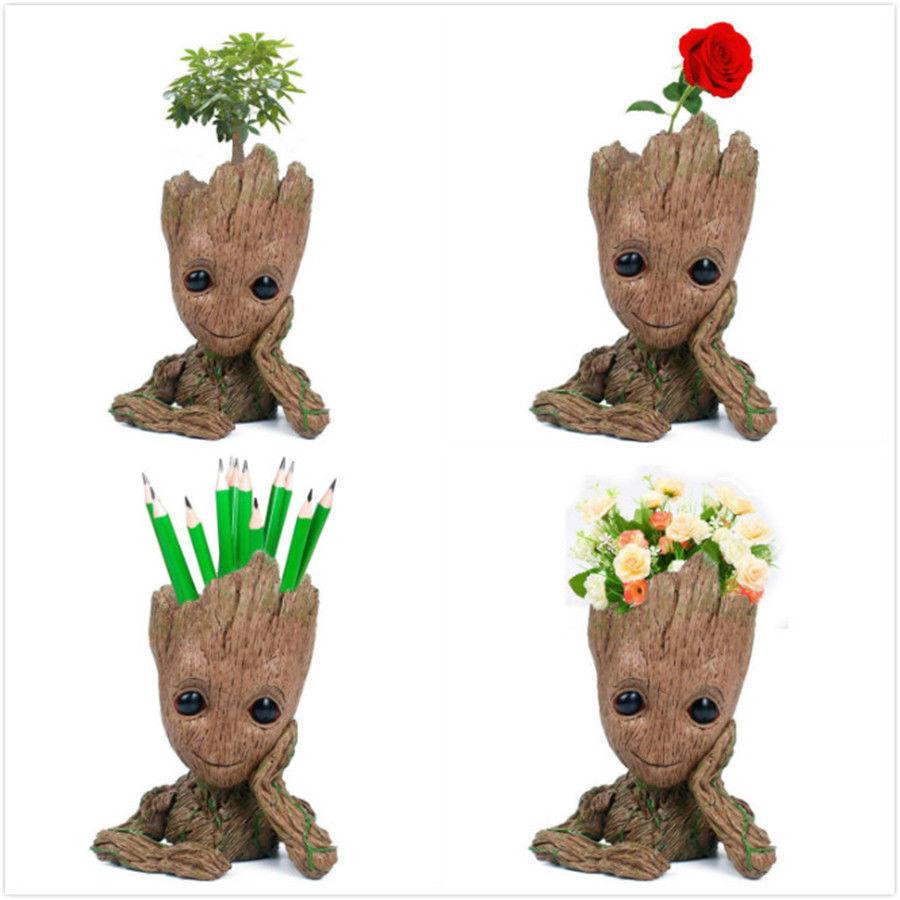 Guardians Of The Galaxy Baby Groot Planter Pen Flowerpot Tree Man