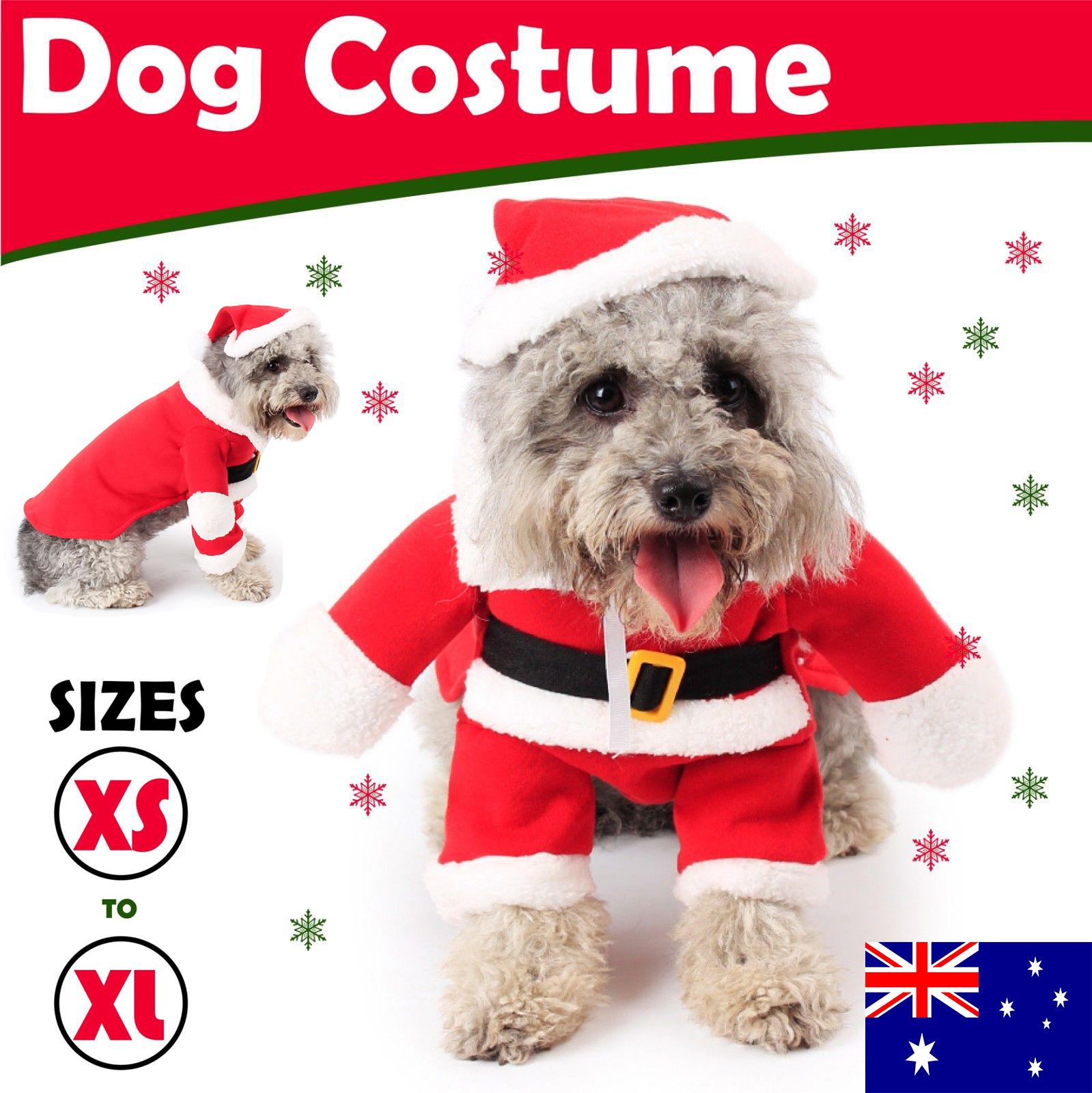 Christmas Pet Costumes.Details About Santa Christmas Dog Dress Puppy Cat Coat Winter Clothes Pet Costumes Apparel