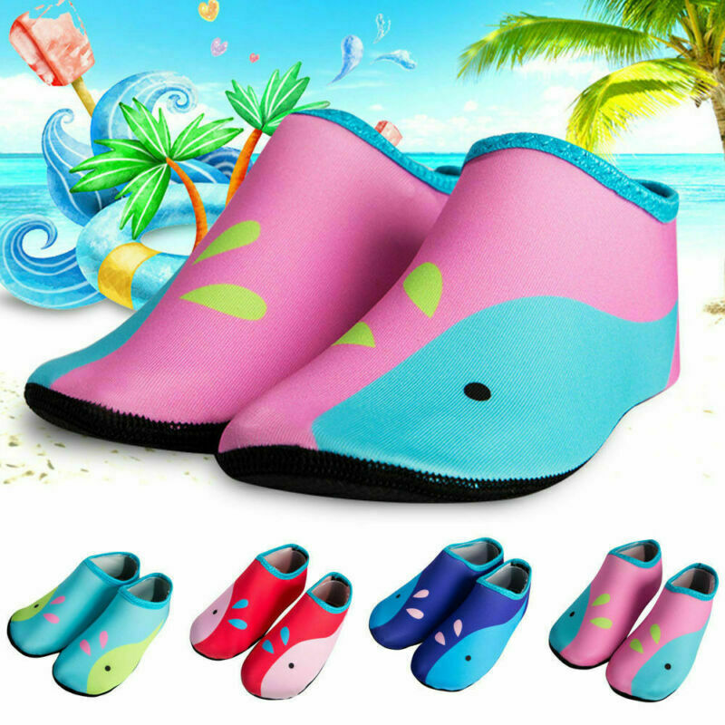 5643d7920267d Details about Kids Baby Whale Water Skin Shoes Aqua Socks For Children Boy  Girl Beach Swimming