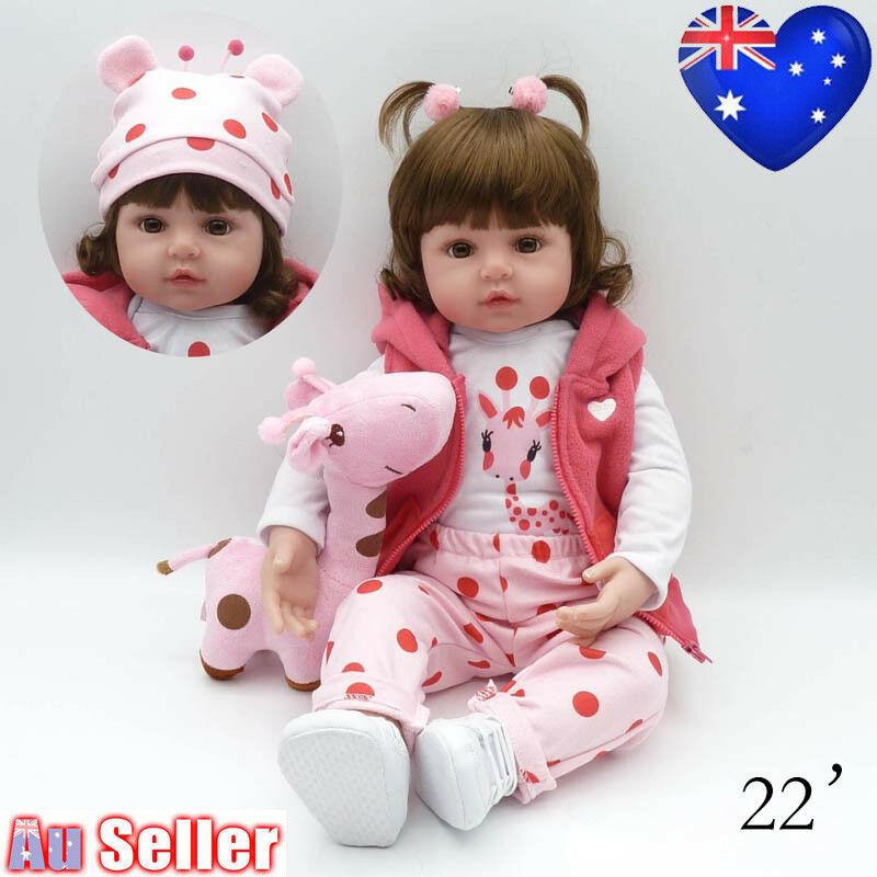 22/'/' Lifelike Newborn Silicone Vinyl Baby Doll Handmade Reborn Dolls Soft Lot