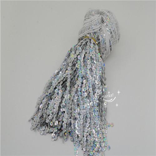 6-5-Yards-Sequins-Tassel-Fringe-Trim-Gold-Silver-Latin-Samba-Dress-Sew-on-Supply thumbnail 20