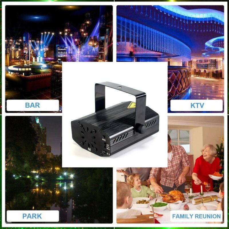 Laser Projector Stage Lights Mini LED R&G Lighting Xmas Party DJ Disco KTV AU 2