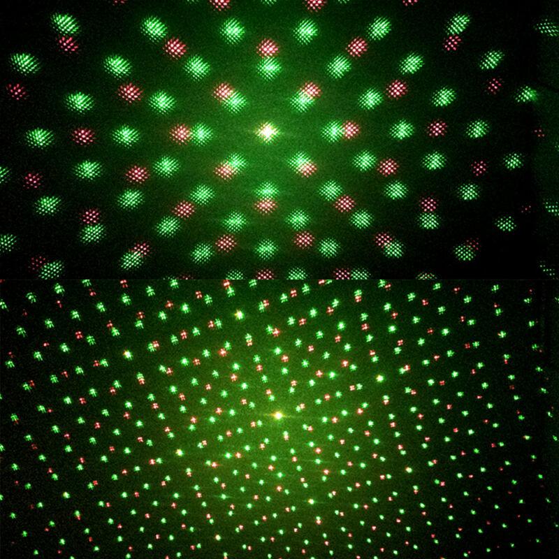 Laser Projector Stage Lights Mini LED R&G Lighting Xmas Party DJ Disco KTV AU 5