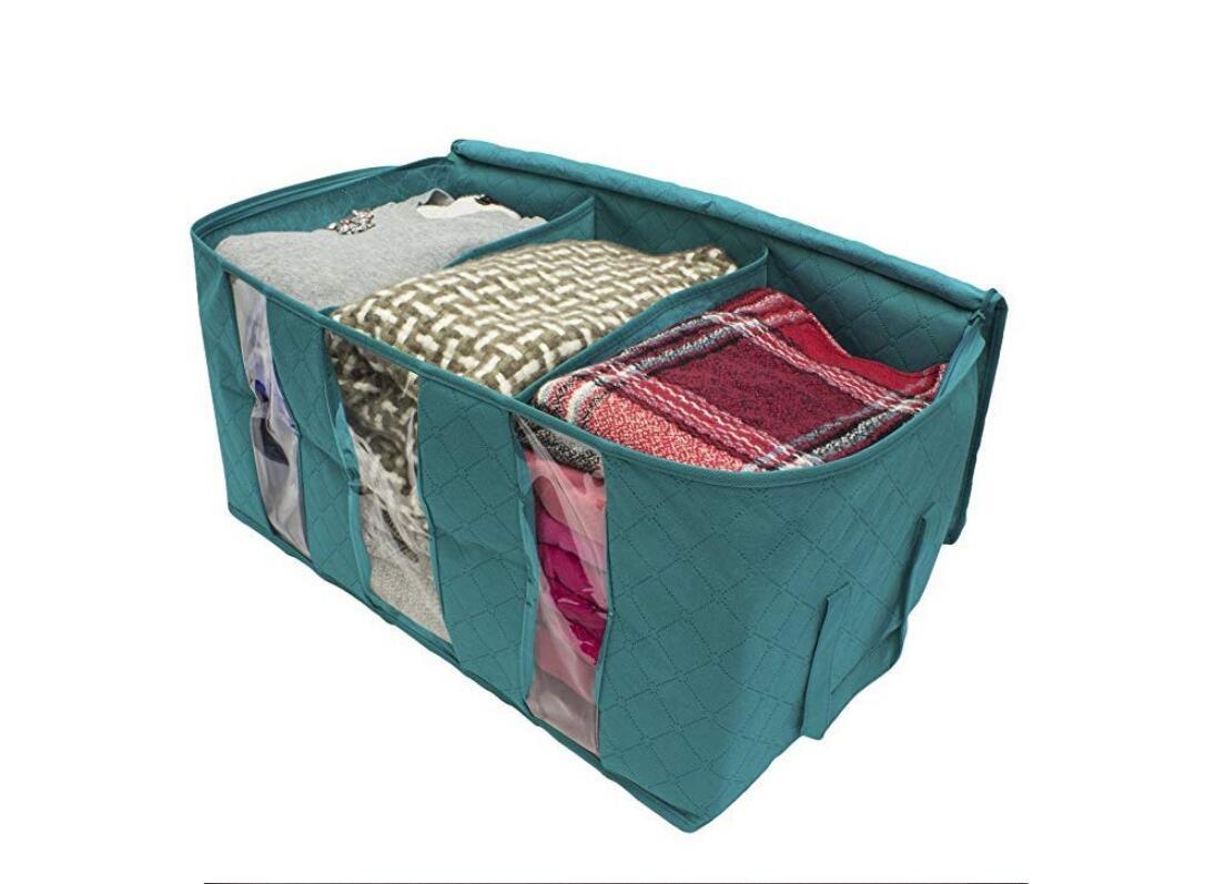 Clothes-Quilt-Blanket-Bamboo-Storage-Bag-Charcoal-Organizer-Foldable-Zipper-Box thumbnail 13