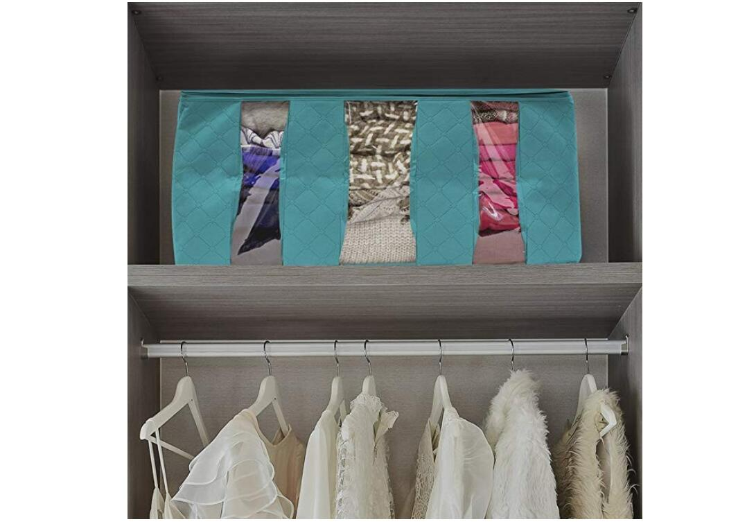 Clothes-Quilt-Blanket-Bamboo-Storage-Bag-Charcoal-Organizer-Foldable-Zipper-Box thumbnail 14