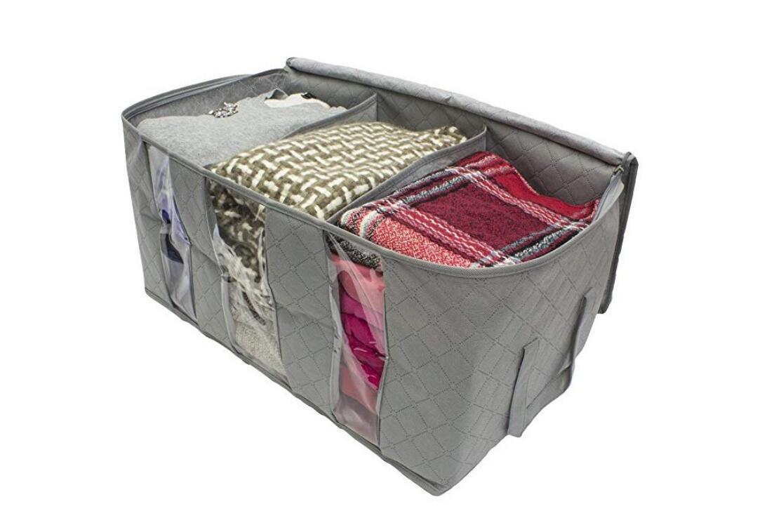 Clothes-Quilt-Blanket-Bamboo-Storage-Bag-Charcoal-Organizer-Foldable-Zipper-Box thumbnail 17