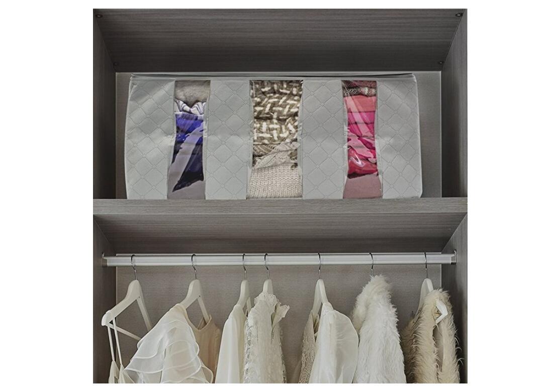Clothes-Quilt-Blanket-Bamboo-Storage-Bag-Charcoal-Organizer-Foldable-Zipper-Box thumbnail 18