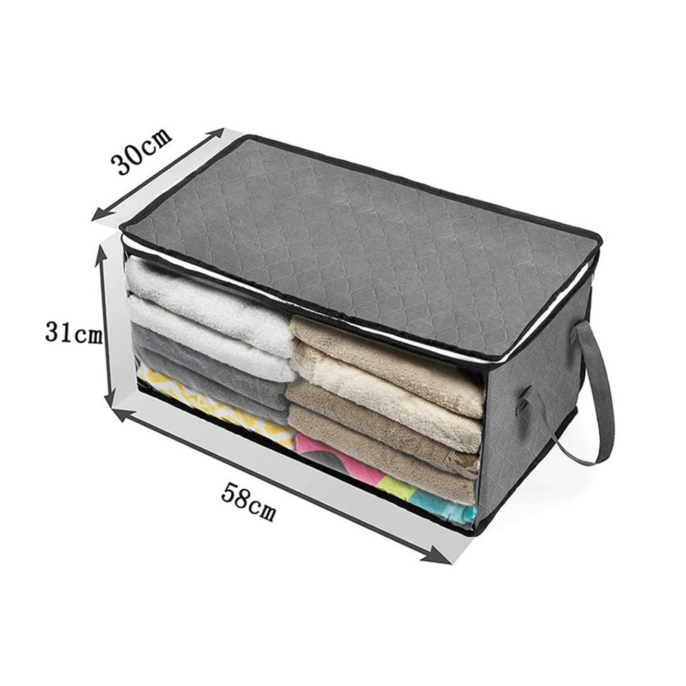 Clothes-Quilt-Blanket-Bamboo-Storage-Bag-Charcoal-Organizer-Foldable-Zipper-Box thumbnail 21