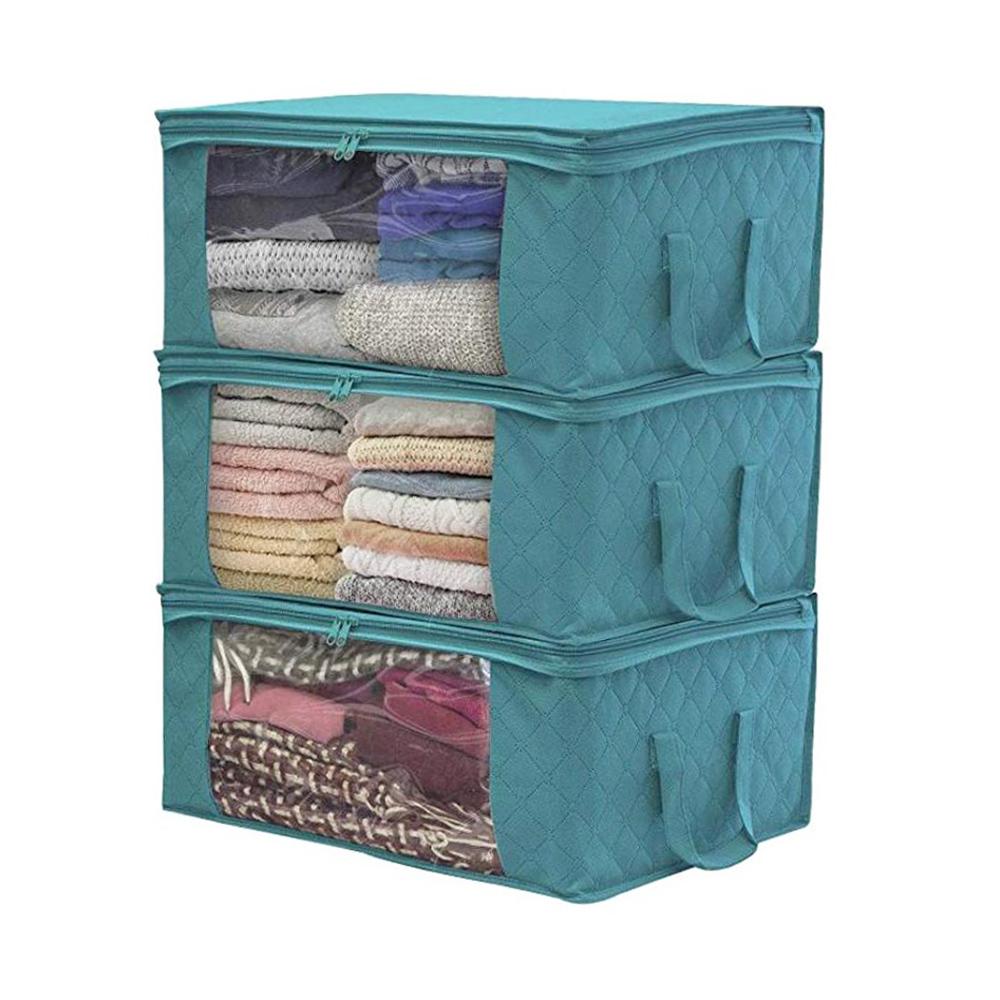 Clothes-Quilt-Blanket-Bamboo-Storage-Bag-Charcoal-Organizer-Foldable-Zipper-Box thumbnail 24