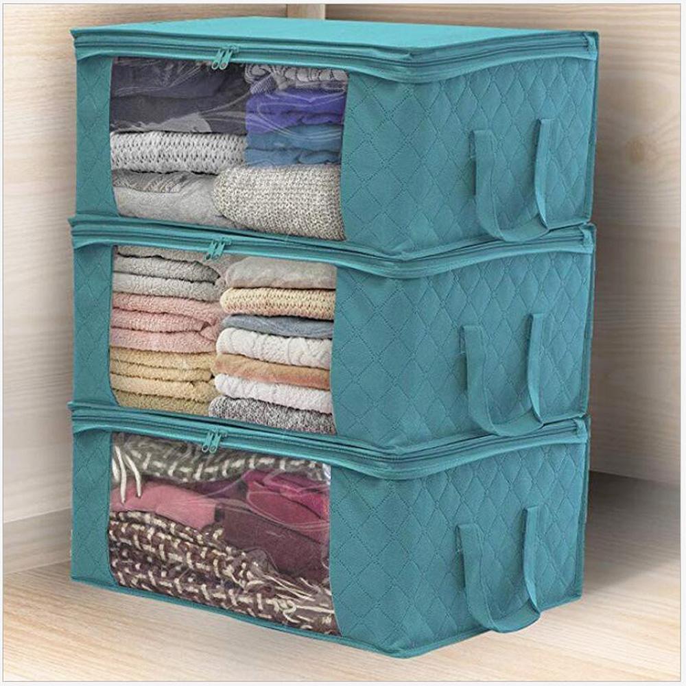 Clothes-Quilt-Blanket-Bamboo-Storage-Bag-Charcoal-Organizer-Foldable-Zipper-Box thumbnail 25