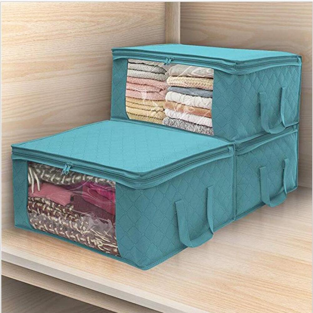 Clothes-Quilt-Blanket-Bamboo-Storage-Bag-Charcoal-Organizer-Foldable-Zipper-Box thumbnail 26