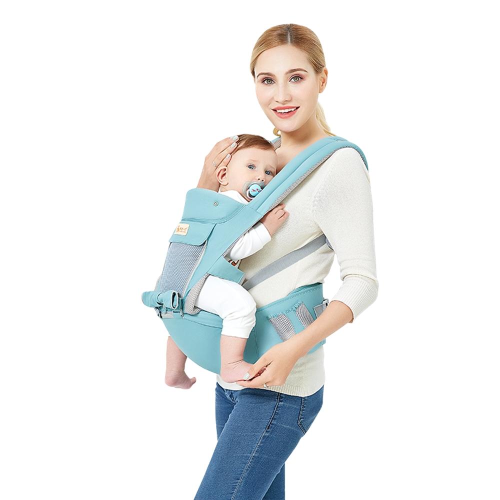 15128798b5a3 3 en 1 bébé nourrisson transporteur Sling ergonomique respirant sac à dos siège  hanche parasol