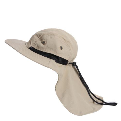 USA Fishing Hiking Outdoor Brim Neck Cover Bucket Boonie Sun Flap Hat Bush Cap