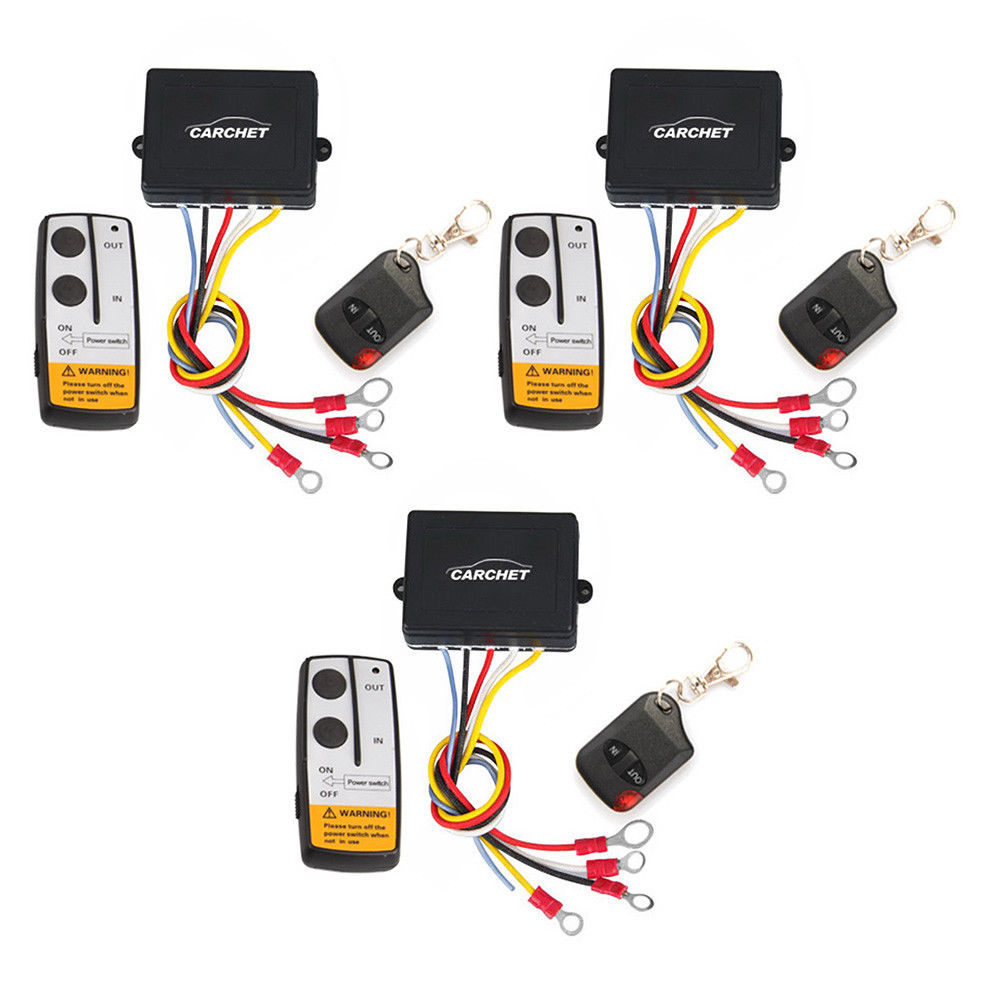 3Pcs Electric Winch Wireless Remote Control for Jeep Truck